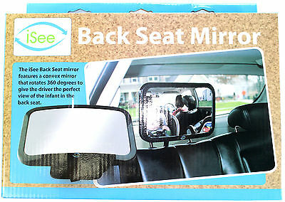 iSee Original Back Seat Rotating Car Baby Mirror by 2 Silly Monkeys