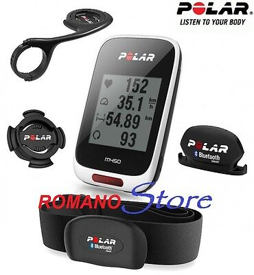 Ciclocomputer Polar Gps M450 Hr Bianco Cardio+Cadence Bluetooth+Front Support