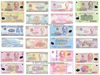 Vietnam Banknotes 100 Dong to 100,000 Dong * Multi Listing* All UNC