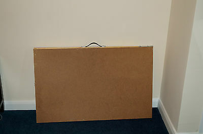 Portable folding hardboard wallpaper-pasting/carboot table