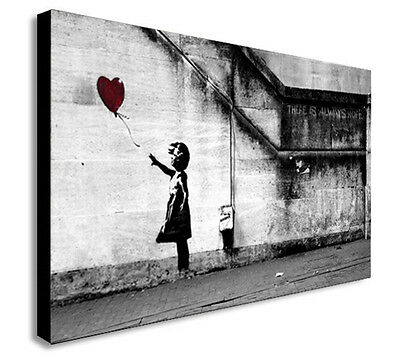 BANKSY BALLOON GIRL  THERE IS ALWAYS HOPE  Canvas Wall Art Print. Various Sizes