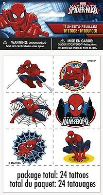 4 Sheets Spiderman Tattoos Party favor