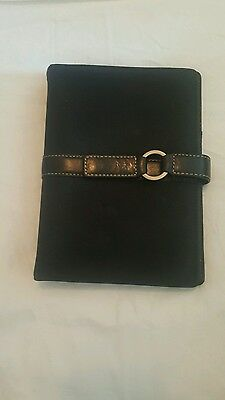 kate spade leather and canvas personal planner agenda organizer