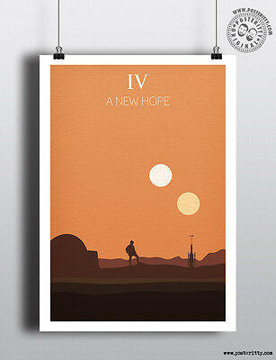 STAR WARS Episode IV - A New Hope Minimalist Poster Posteritty Minimal Design