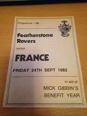 1982 Featherstone Rovers V France