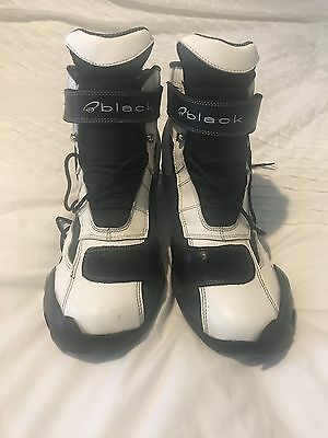 Men's Motorcycle Boots Size 10 Black & White