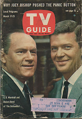 1962 TV GUIDE E.G. Marshall and Robert Reed of 'The Defenders' March 17-23