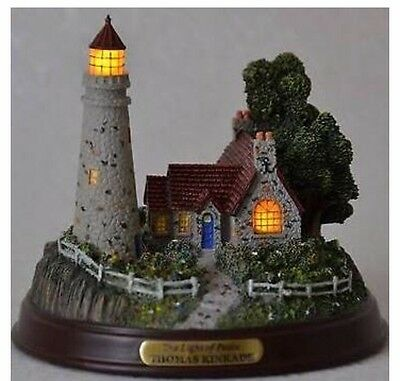 "Thomas Kinkade Seaside Memories ""Clearing Storms"" Lighted Lighthouse"