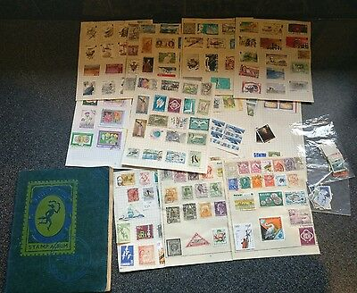 Collection of Stamps im 1 album and loose pages
