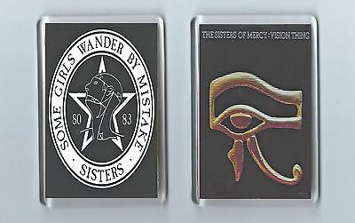 Magnets x 2: SISTERS OF MERCY some girls wander by mistake vision thing GOTH