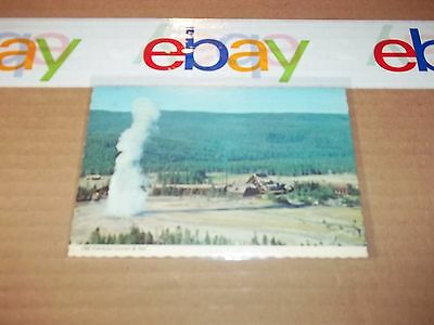 postcard,  Old Faithful geyser Yellowstone National Park, Wyoming