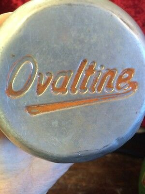 Vintage Aluminum Metal Ovaltine Shaker/Mixing Cup with Lid