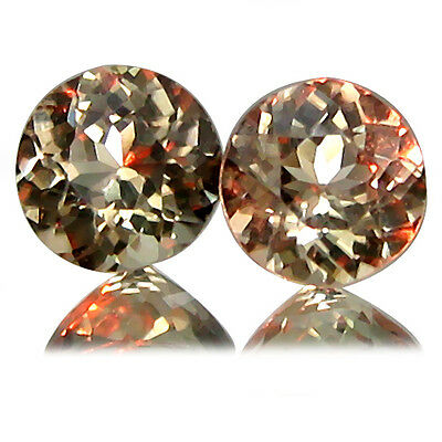 1.30CtsGorgeous Natural Color Change Diospore Nice Round 5.3m Shape From Turkey