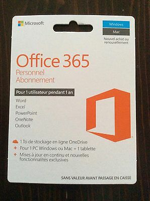 Office 365 Abonnement personnel