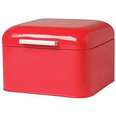 Now Designs Bread Box Bakery Box Storage For Kitchen Vintage Lid Swing Red New