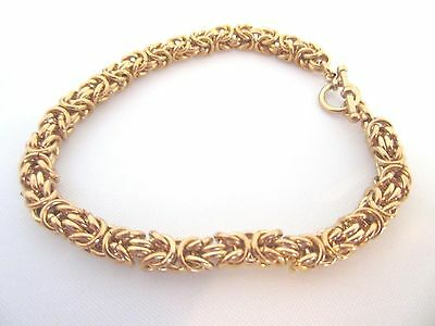 Byzantine Bracelet Bronze Intricate Ancient Weave Chain Mail Size 7 to 9