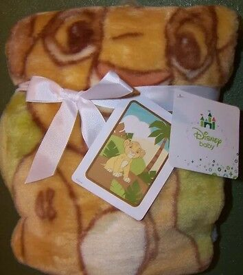 Disney Baby Luxury Plush Throw Lion King Simba Jungle Blanket Ship Worldwide NEW