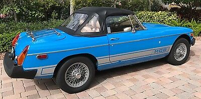 1980 MG MGB  1980 MGB Convertible - Blue - Highly Documented
