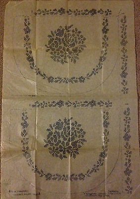 Vintage embroidery transfers, Chair Backs, Cross stitch, Flowers, Briggs