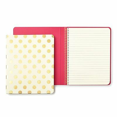 """NEW - KATE SPADE - Spiral Notebook - """"Gold Pavillion"""" - 112 Lined Pages"""