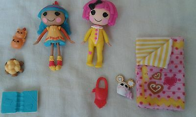 Lalaloopsy small dolls X2 and accessories