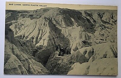 Antique BAD LANDS With Victorian People NORTH PLATTE VALLEY Unsent Postcard