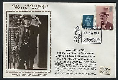 Sir Winston Churchill 1980 GB cover - 40th anniversary of becoming PM - AF162