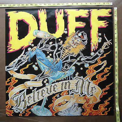 """DUFF McKAGEN,Guns n Roses,24""""x24"""",Two sided POSTER,Very RARE Original,"""