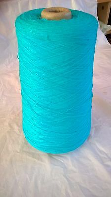 LOT 25 Turquoise 1ply 100% acrylic  502g Hand or Machine Knitting Yarn on Cone