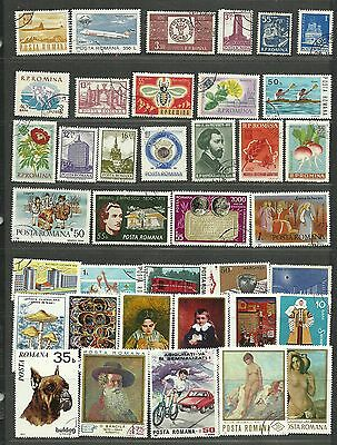 ROMANIA Amazing Collection Miscellaneous Very Fine & Fine Used Stamps Set# 18