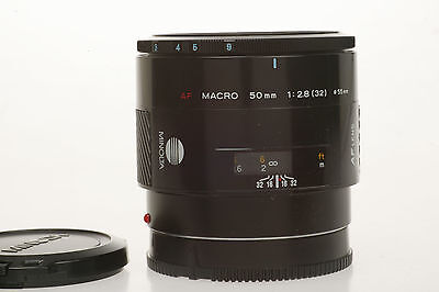 sony alpha : MACRO 2,8 / 50 mm MINOLTA AF - Lens +  Caps, very nice Condition !