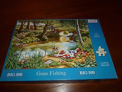 500 Large Piece Jigsaw Puzzle - Gone Fising