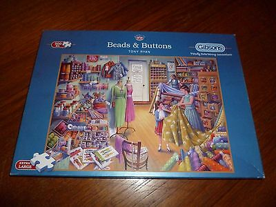 500 Large Piece Jigsaw - 'beads And Buttons'