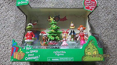 Dr Seuss HOW THE GRINCH STOLE CHRISTMAS Collectible Figures  886144198311