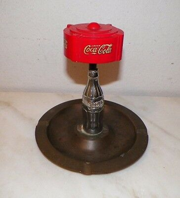 Rare Vintage Coca Cola Pullmatch Corp Advertisement Ashtray Hang Down Matches