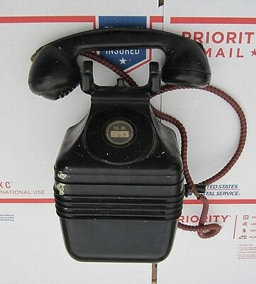 Vintage Wall / Beehive Crank Rotary Bakelite Telephone (FOR PARTS / NOT WORKING)