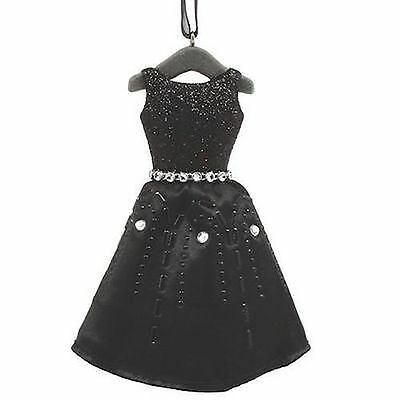 Hallmark Signature Christmas Ornament Little Black Rhinestone Dress NIB