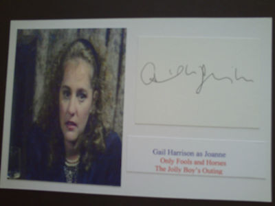 Gail Harrison Only Fools And Horses Genuine Signed Card And Photographs