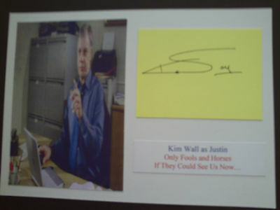 Kim Wall Only Fools And Horses Genuine Signed Card And Photograph