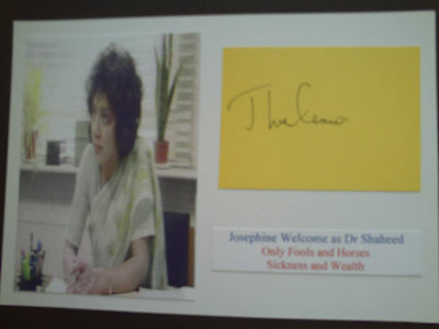 Josephine Welcome Only Fools And Horses Genuine Signed Card And Photograph