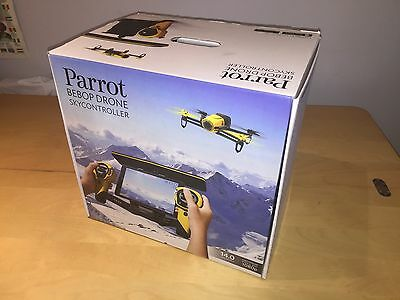 Parrot Bebop Drone and Skycontroller (Yellow) Boxed + Extra Batteries