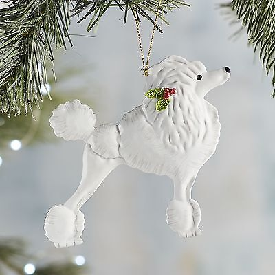 Pier 1 Metal Poodle Holiday Christmas Ornament Park Avenue Pets Collection NWT