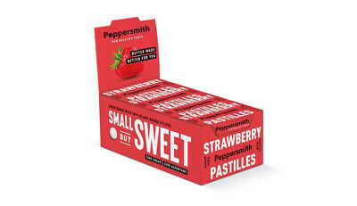 Peppersmith 100% Xylitol Strawberry Pastilles, (Pack of 12 = 300 Pastilles)