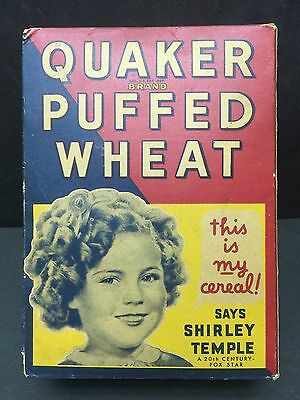 Vintage Quaker Puffed Wheat Shirley Temple Cereal Box