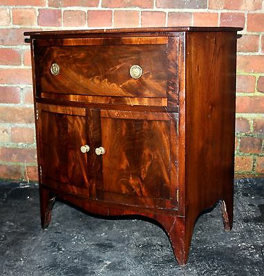 Antique mahogany Georgian bedside commode table night stand 1820 T.V. stand