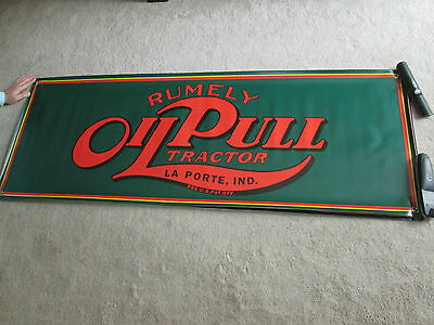 Rumely Oil Pull Antique Tractor Banner Large Look