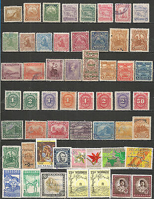 Nicaragua from 1877 year  nice Collections stamps , mint / used