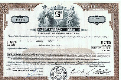 General Foods Corp., 1990, 25.000,