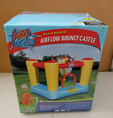 Action Air Airflow Bouncy Castle With Electric Blower - Brand New Boxed Sealed