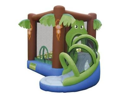 Crocodile Airflow Bouncy Castle With Slide & Electric Blower - Brand New Boxed
